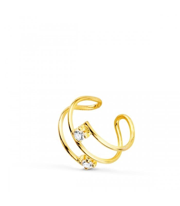 Ear Cuff Oro 18K Sand Zircon piercings de oro para la oreja piercing helix cartílago