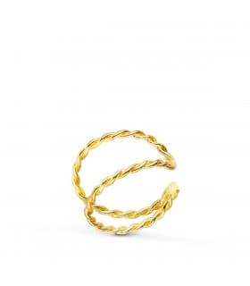 Ear Cuff Oro 18K Sand Twist