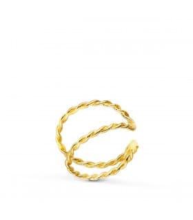 Ear Cuff Oro 18K Sand Twist | pendiente de oreja | pendientes de aro pequeños | piercings de oreja, helix, ajustador