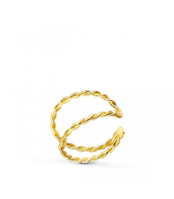 Ear Cuff Oro 18K Sand Twist