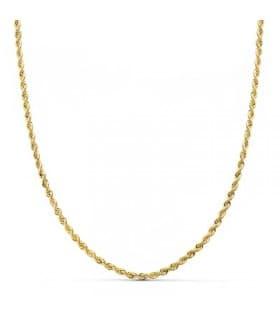 Cordón Salomónico Oro amarillo 18k 40cm 2mm