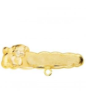 Alfiler Bebé León Nube Oro Amarillo 18K