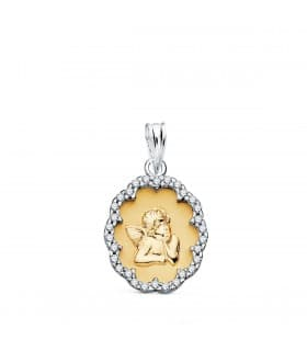 Medalla Angelito oro bicolor 18K