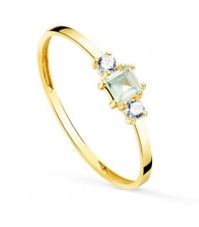 Anillo Aguamarina Always Oro Amarillo 18K