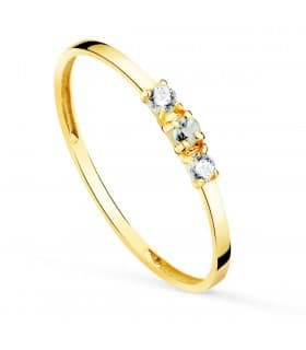 Anillo Always Oro Amarillo 18K Aguamarina