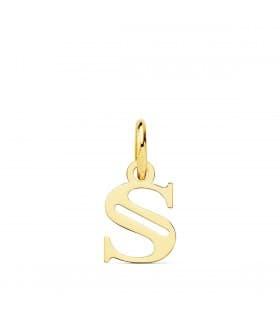 Colgante inicial oro amarillo 18k collar personalizado con la letra de tu nombre