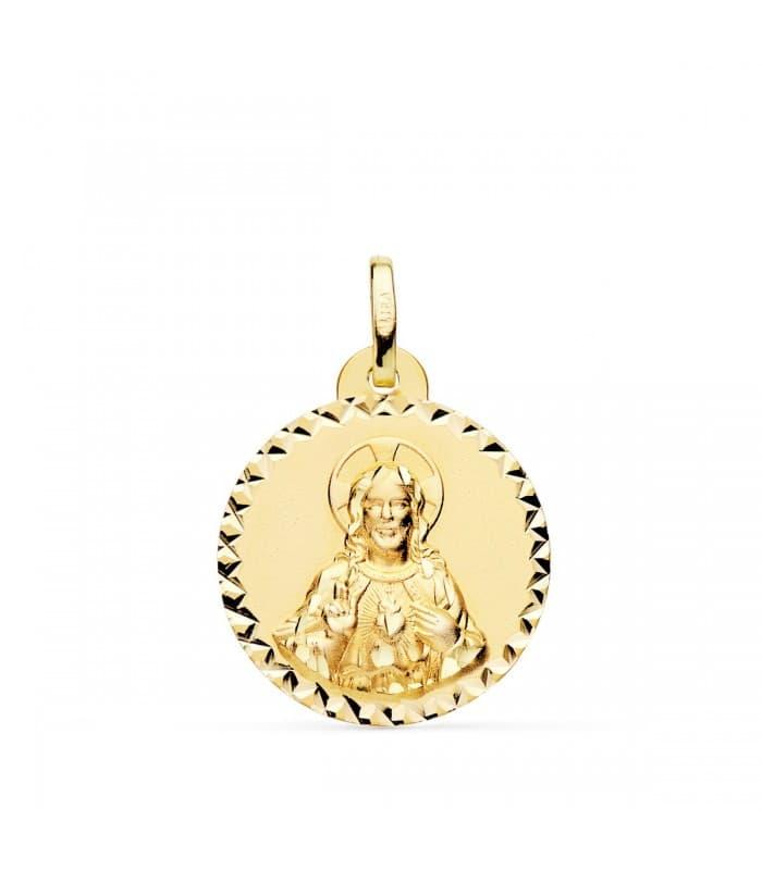 Sagrado Corazón de Jesús Talla Oro 18K 20 mm