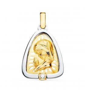 Medalla Virgen Niña Oro y Plata 24mm