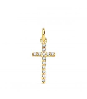 Colgante cruz Oro amarillo 18 Ktes