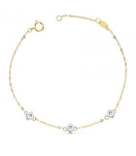 Pulsera Diamantes Delicia Oro 18K 0.045 Qtes.