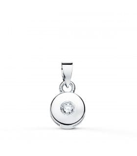 Colgante Chatón Diamante 0.035 Qtes. OB 18K
