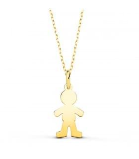 Collar personalizado silueta niño Oro 18K colgante mama, regalos para el dia de la madre