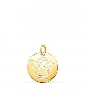 Medalla Oro 9k Angelito con alas