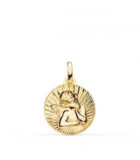 Medalla Oro 9k Angelito 14 mm