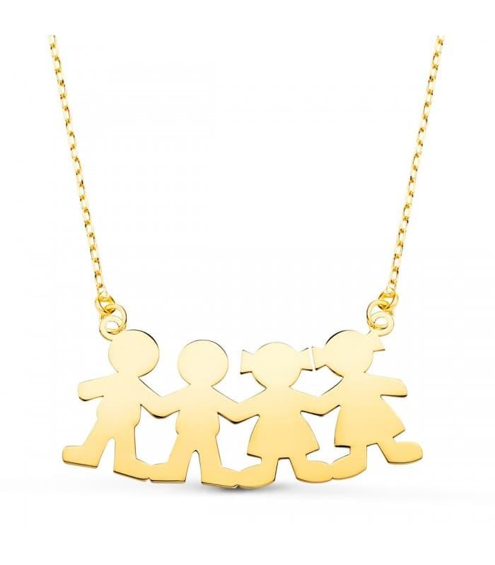 Collar personalizado silueta niño Oro 18K