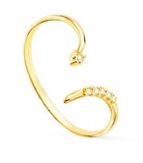 Anillo Serpiente Oro Amarillo 18K Piedras