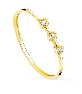 Anillo Harlow Oro 18K Diamantes 0.024 Qts.