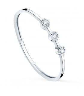 Anillo Harlow Oro Blanco 18K Diamantes 0.024 Qts.
