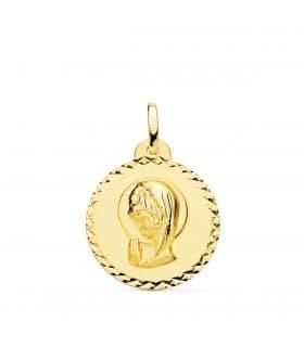Medalla Virgen niña talla 18Ktes 20mm Comprar regalos para comunion joyeria online
