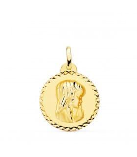 Medalla 18kt 20mm Virgen Niña Rezando Talla comprar regalos para la primera comunión