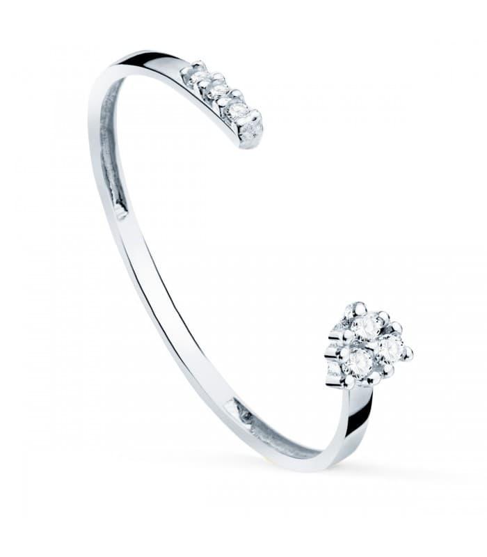 Anillo Novak Oro Blanco 18K Diamantes 0.040 Qts.