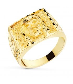 Sello Camarón Oro Amarillo 18K macizo