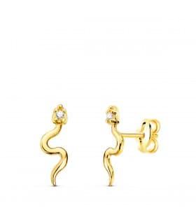 Pendientes Snake Oro Amarillo 18K