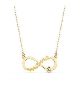 Collar Mamá Infinito Oro Amarillo 18K