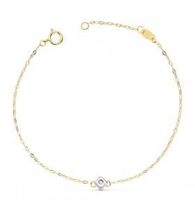 Pulsera Chatones Diamantes Delicia Oro 18K 0.045 Qtes.