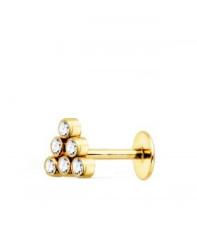 Pendiente piercing Oro Amarillo 18K Triángulo