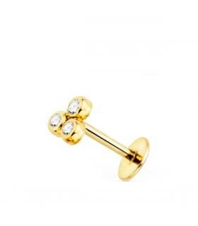 Piercing mini Triángulo Oro Amarillo 18K