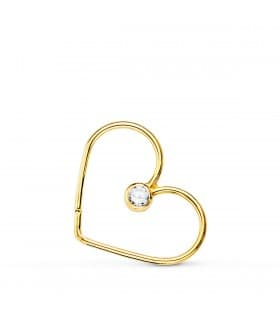 Piercing Aro Corazón Oro Amarillo 18K