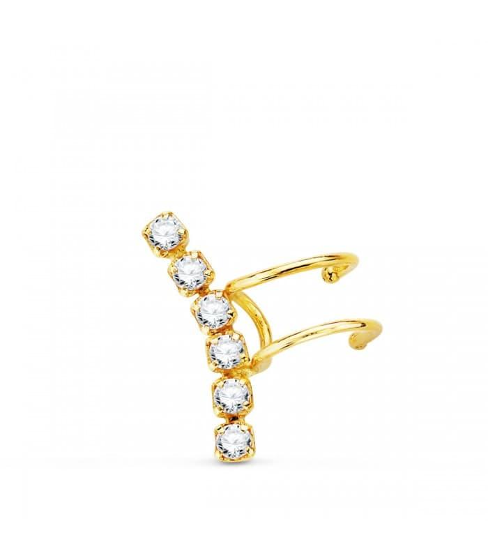 Ear cuff Oro Amarillo 18K Trepador
