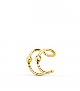 Ear cuff Oro Amarillo 18K Bolitas