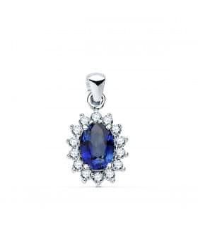 Colgante Sybil Oro 18K Esmeralda y Diamantes