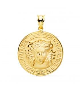 Medalla Medusa Oro 18K 25 mm