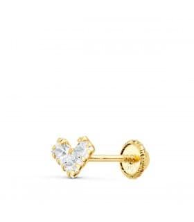 Pendiente suelto Corazón Oro Amarillo 18K