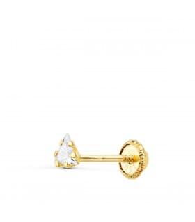 Pendiente suelto Triángulo Oro Amarillo 18K