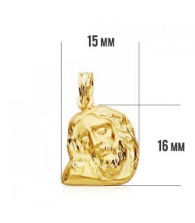 Cabeza Cristo Yacente 16x15mm