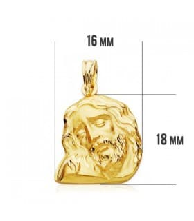 Cabeza Cristo Yacente 18x16mm