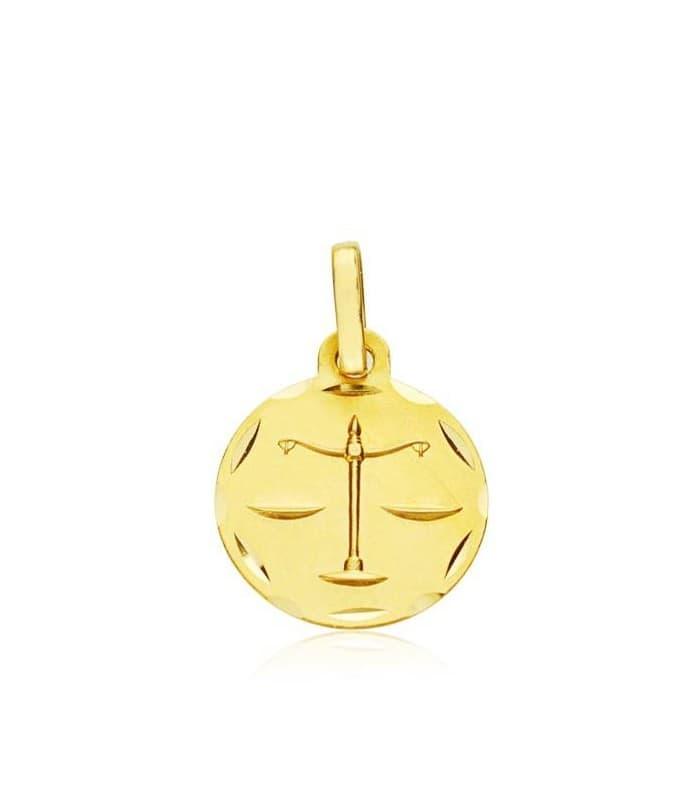 Medalla colgante horóscopo Libra 18k Signo del zodiaco oro
