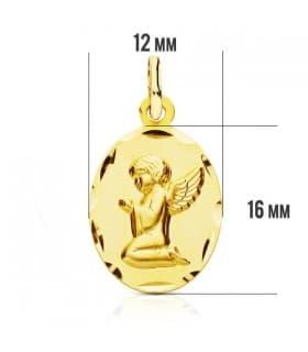 Medalla Angelito tallada
