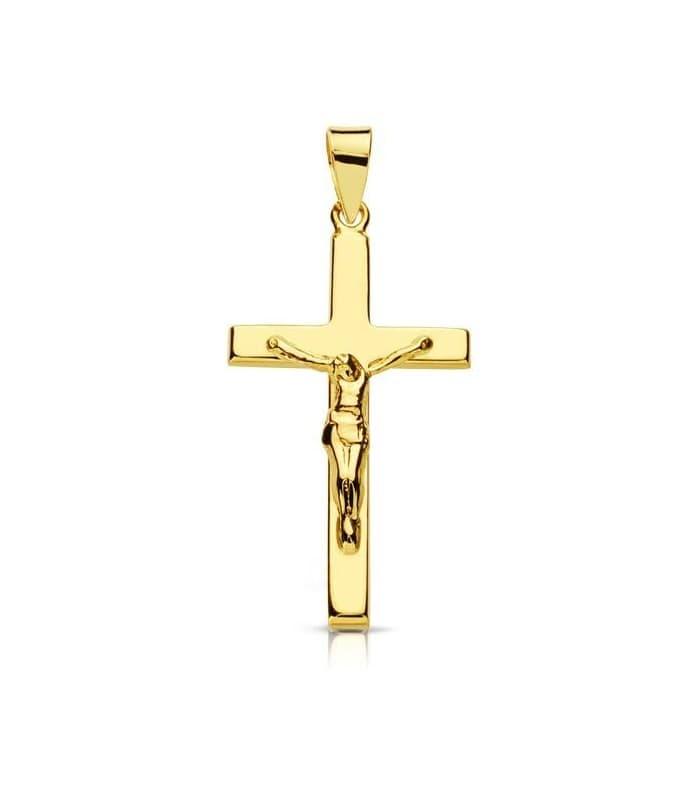 Cruz Cristo palo rectangular