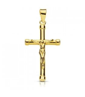 Cruz Cristo palo redondo