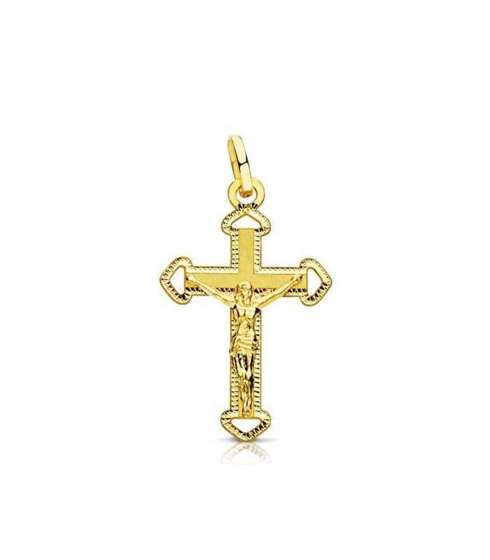 Cruz Cristo tallada