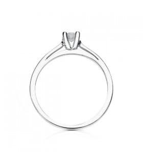 Anillo de compromiso mujer diamantes brillantes 0.200 quilates solitario boda novia