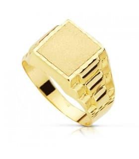 Sello caballero Evan 18 Ktes anillo para hombre de oro