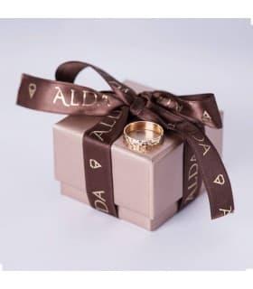 Alianza diamantada 4mm
