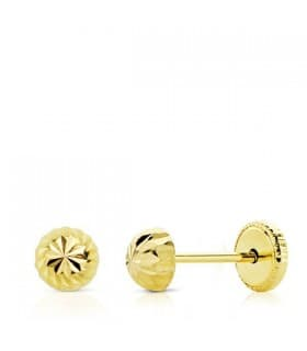 Pendientes oro amarillo Annunzia 4 mm 18 Ktes