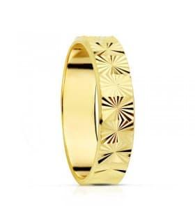 ALIANZA FACETADA 9 KTES. anillo de boda joyeria online grabado